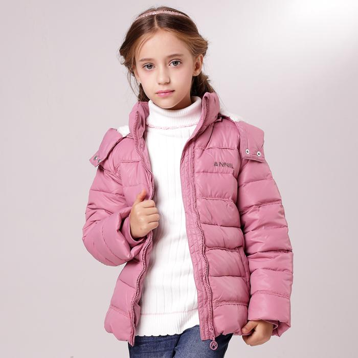 安奈儿女童装 13年新款冬装短款羽绒服外套AG345553 正品特价