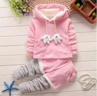 2015新款男童冬装儿童卫衣三件套加厚宝宝婴幼儿套装1-2-3岁衣服