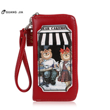 Girls purse ladies wallet long wallet GUANG JIA GJ4007-10