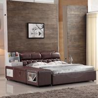 西柏尔家具 真皮床 双人床 皮床软体床 软床 皮艺床 1.8米软床