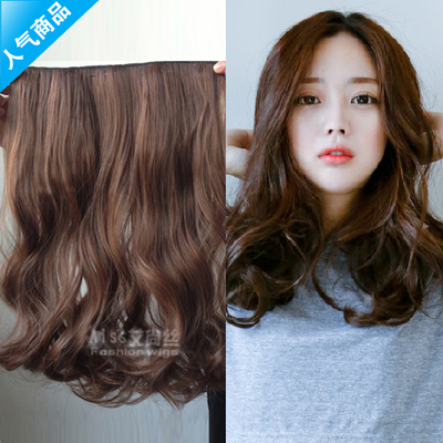 Wig piece of curly hair big wave receiver pear brief paragraph long curly hair a faded matte high temperature wire