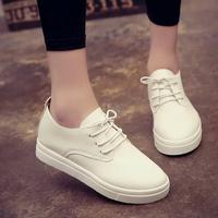 2016秋季韩版女鞋运动鞋板鞋平底学生休闲鞋系带小白鞋透气单鞋子