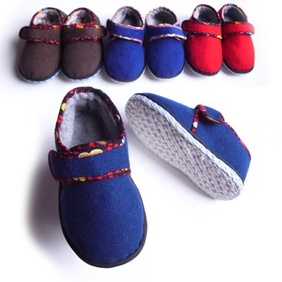 Fall and winter baby handmade shoes Melaleuca Kadena boys and girls under the age of cotton-padded shoes for children infant toddler