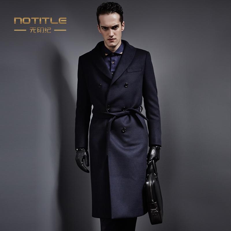 秀場名品男裝 男士冬季商務正裝外套羊毛呢子風衣 長款羊絨大衣男圖片
