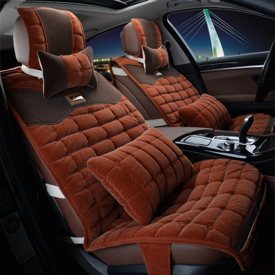 Step Prius new winter car mats car seat all-inclusive generic cute plush flocking women slip seat