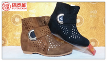 Fu tai xin old Beijing cloth shoes within 2015 new European and American fashion leisure comfortable shoes with high women's boots