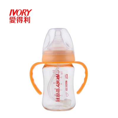 爱得利PPSU奶瓶宽口径带手柄吸管动180ml宝宝婴儿奶瓶AA-205