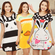 cartoon short sleeved clothes Home Furnishing Nightgown Paja