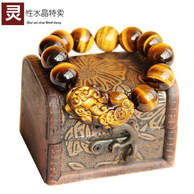 Natural Yellow Tiger Eye boutique opening brave men female tiger eye stone bracelet evil Lucky Bracelet