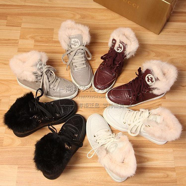 Европейский, покупки Женская обувь осень/зима 2014 новые реальные кролика плоский повседневные кроссовки универсальный натуральная кожа Женская обувь