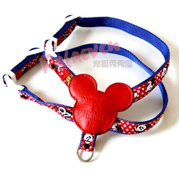 PET PA * SE Pet Supplies Mickey bundle bang style dog harness traction rope pull out style harness pull