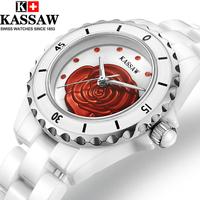 正品玫瑰花系列陶瓷女表水钻表手表女士手表防水韩版时尚腕表