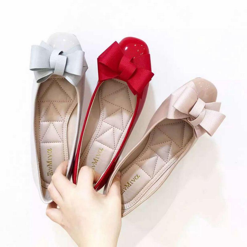 单鞋女平底2016夏季新款韩国纯色蝴蝶结圆头浅口软底百搭平跟女鞋