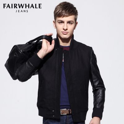 Fairwhale fleece jacket men coat new winter thick section authentic jacket Korean tidal 7506