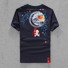 The wu is empty this shop gocoo cherry blossom firework short-sleeved t-shirts for men and women lovers half sleeve 2015 new tide