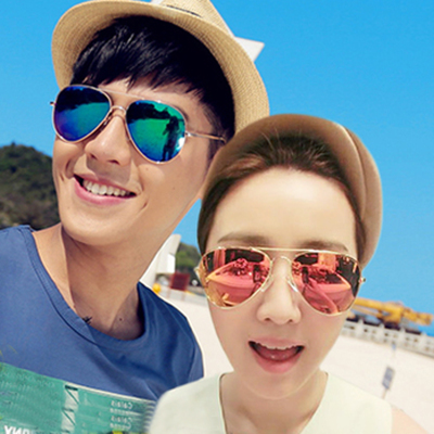 Genuine polarized sunglasses yurt influx of people men and women Colorful driver of SLR sunglasses cool sunglasses
