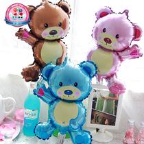 铝膜气球铝箔卡通可爱小熊生日装饰舞会派对布置充气玩具宝宝儿童