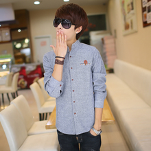 Semir flannel shirt Tide male young students warm shirts Han edition cultivate one's morality men favors cotton shirt