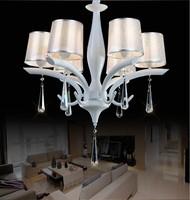 欧式奢华水晶吊灯时尚铁艺餐厅卧室灯具创意现代简约客厅饭厅灯饰