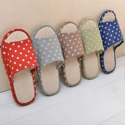 亚麻拖鞋夏季居家居拖鞋女情侣木地板防滑室内拖鞋棉麻凉拖鞋