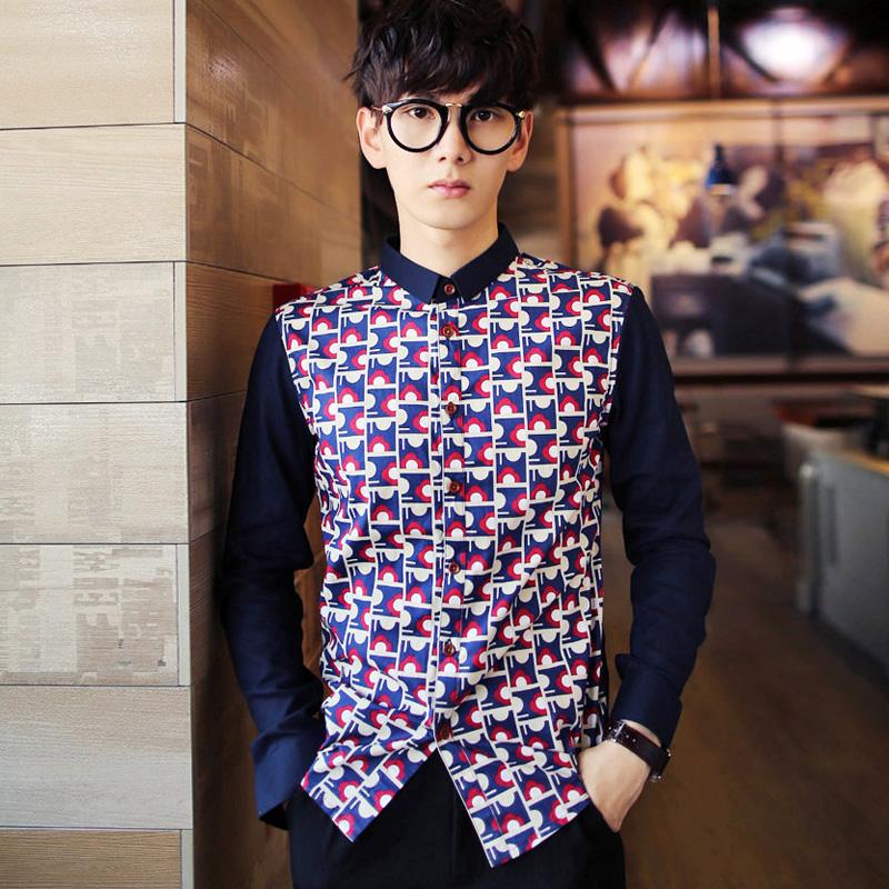 模特版 15秋韩版修身格子衬衣