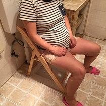 39折叠便携柏木实木坐便椅 孕妇老人移动座厕坐便器马桶