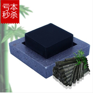 Natural bamboo charcoal SOAP-handmade soap wash white facial skin lightening acne soaps Indian oil manual soap dispenser