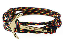 Original German flag color virginstone miansai style nylon rope bracelet Mediterranean male hand rope