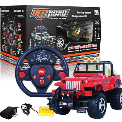 Free shipping authentic simulation of electric off-road remote control car boy toy 3-4-5-6-7-8-10-111 aged over