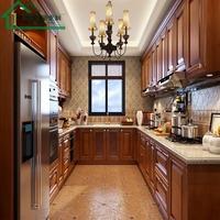 新辰整体橱柜橱柜定做 实木厨柜定制 橡木 樱桃木 水曲柳欧式厨房
