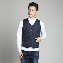 Unlined upper garment of xuan middle-aged and old male money down vest vest waistcoat Suit sharp-angled cold-proof vest The season on sale