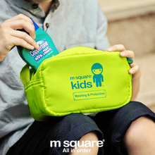 Authentic m square KIDS portable nursing bag travel essential multifunctional wash gargle bag package of wash one's hands