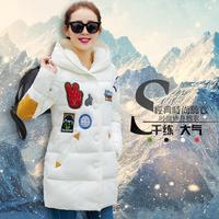 2015冬装羽绒棉服外套韩版贴标时尚女装中长款棉衣女宽松加厚棉袄