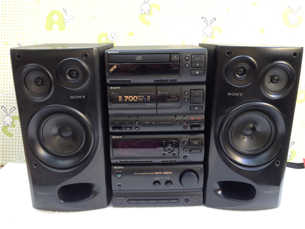 Imported Second Hand Stereo Sony MHC E60X Bookshelf Component Systems Can Be Connected