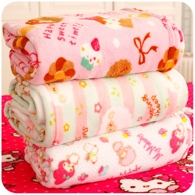 Super cute high quality coral fleece blanket thicker air-conditioned office carpet towel child leisure nap blanket