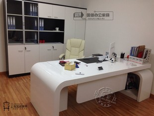 Guangdong, Shanghai and Beijing female simple stylish modern white paint boss Executive desk desk