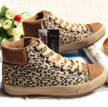 Step far fall 2014 cotton wool surface women casual shoes Han edition takamatsu cake with leopard grain cotton shoes snowshoes boots
