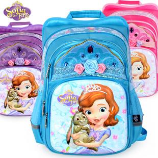 迪士尼书包小学生女童1-3年级4-6苏菲亚公主减负护脊儿童双肩背包