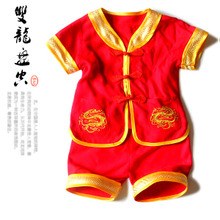Package mail Children's baby outfit suits summer thin centenarians suit baby clothes red one full year of life