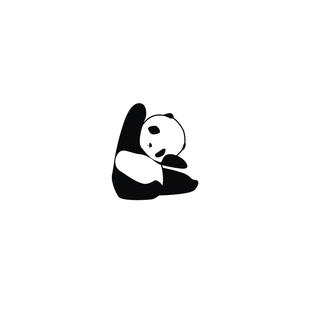 防水纹身贴 熊猫