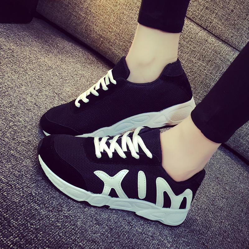 2015秋季学生女鞋韩版运动休闲鞋厚底女单鞋秋平底跑步鞋板鞋潮夏