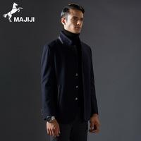 秋冬装男士青年外套修身立领羊毛呢商务夹克男装绅士夹克衫