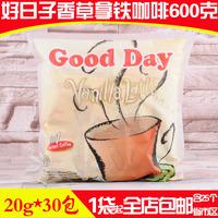 印尼进口咖啡 GOOD DAY好日子香草拿铁咖啡600克三合一速溶咖啡