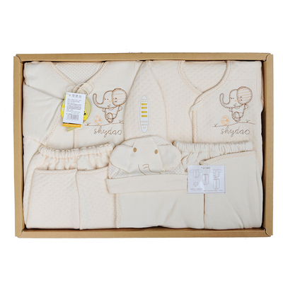 El Nino Island organic cotton baby clothes newborn gift warm winter cotton suits 5 gift YJ1233