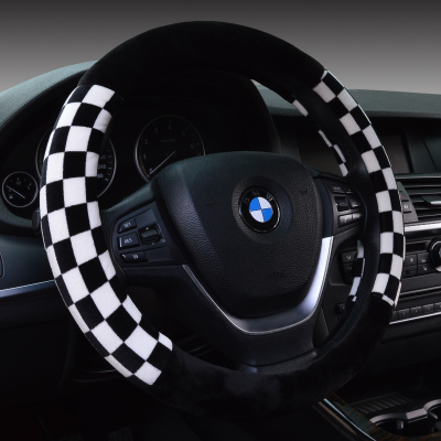 Car steering wheel cover BMW Audi Volkswagen Lavida Jetta steering wheel cover winter supplies to cover short plush female