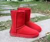 冬季雪地靴女中筒靴真牛皮加厚保暖冬靴加厚保暖平底防滑学生棉鞋