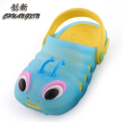 Children's summer new caterpillar hollow hole shoes jelly shoes, sandals and slippers for men and women children beach sandals free shipping