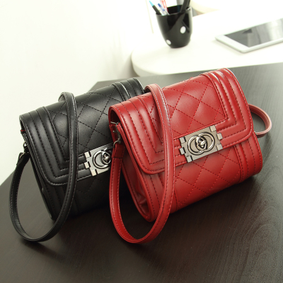 2014 Korean version of the new winter fashion handbags shoulder diagonal small bag mini bag small fragrant wind Quilted chain bag