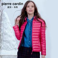 皮尔卡丹正品2015秋冬新款高端轻薄羽绒服女士短款立领显瘦外套潮