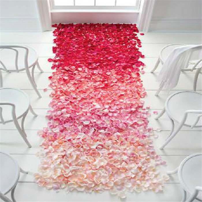 Fake rose petals wedding wedding supplies wedding room window decoration petal petals arranged marriage bed Sahua carpet